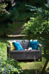 Technorattanowa sofa do ogrodu, meble ogrodowe