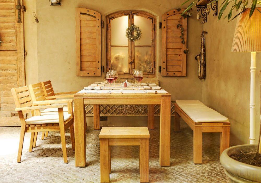 Meble ogrodowe z drewna akacjowego, marka: Rondo