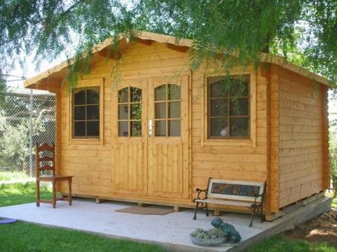 domek ogrodowy z drewna